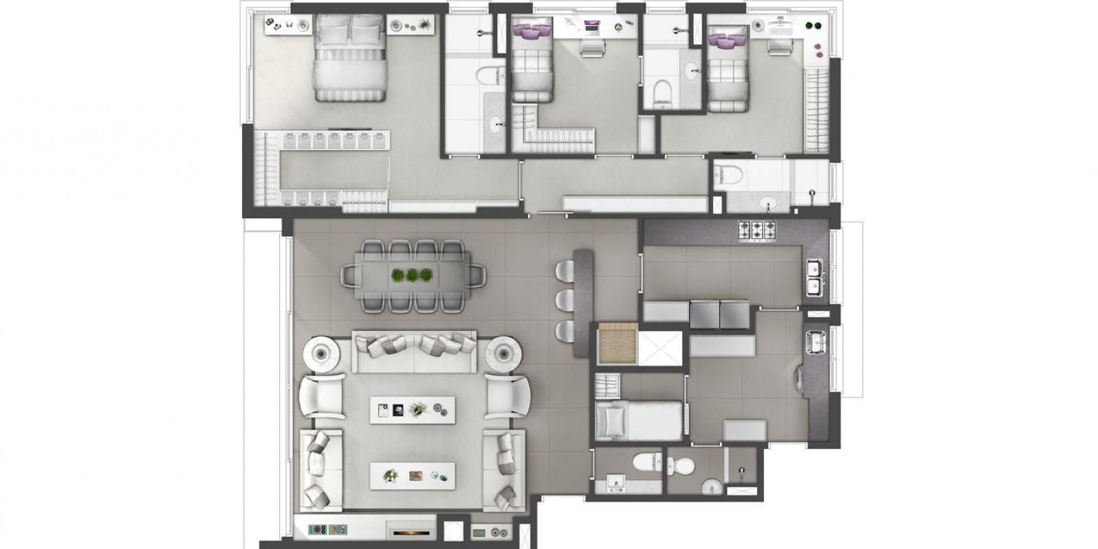 TPS Imóveis - Veja Foto 13 de 13 do Apartamento A Venda 3 dormitórios Porto Alegre