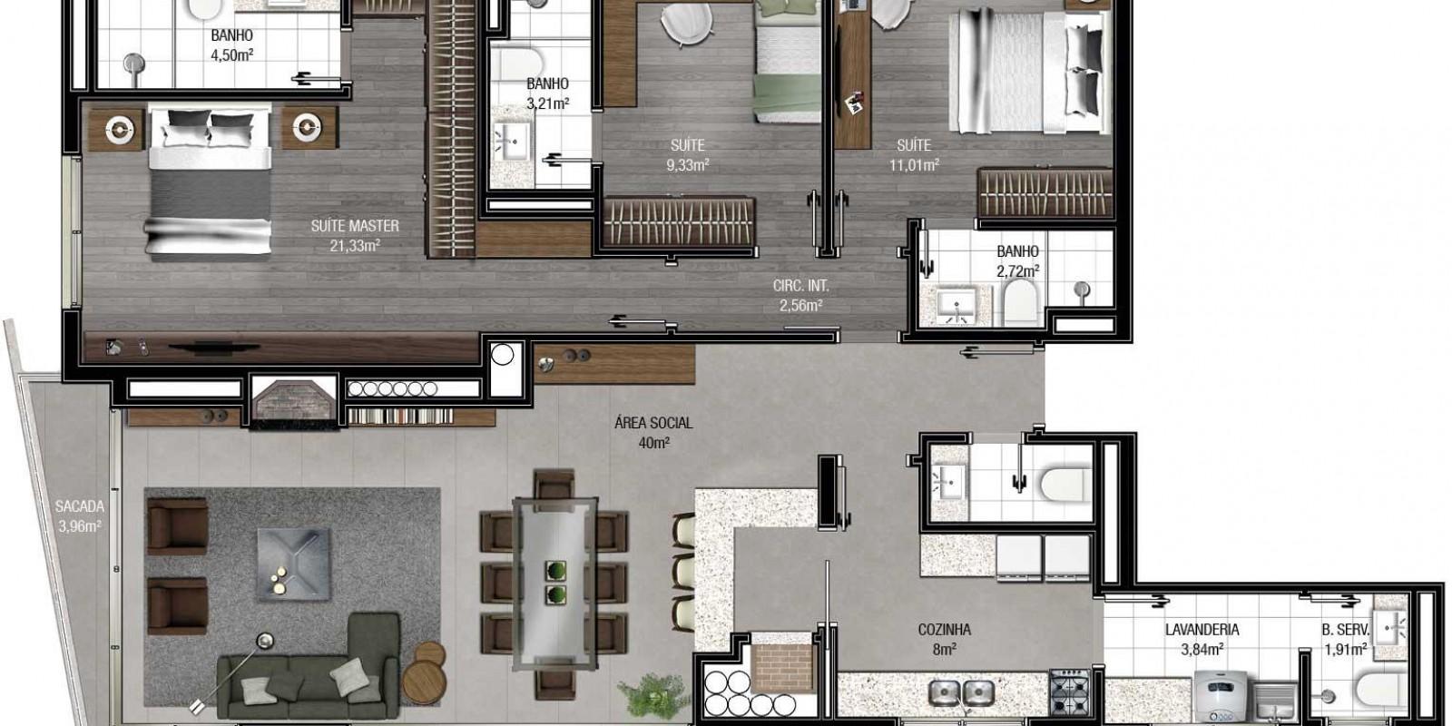 TPS Imóveis - Veja Foto 17 de 18 do Apartamento A Venda 3 Suítes Porto Alegre