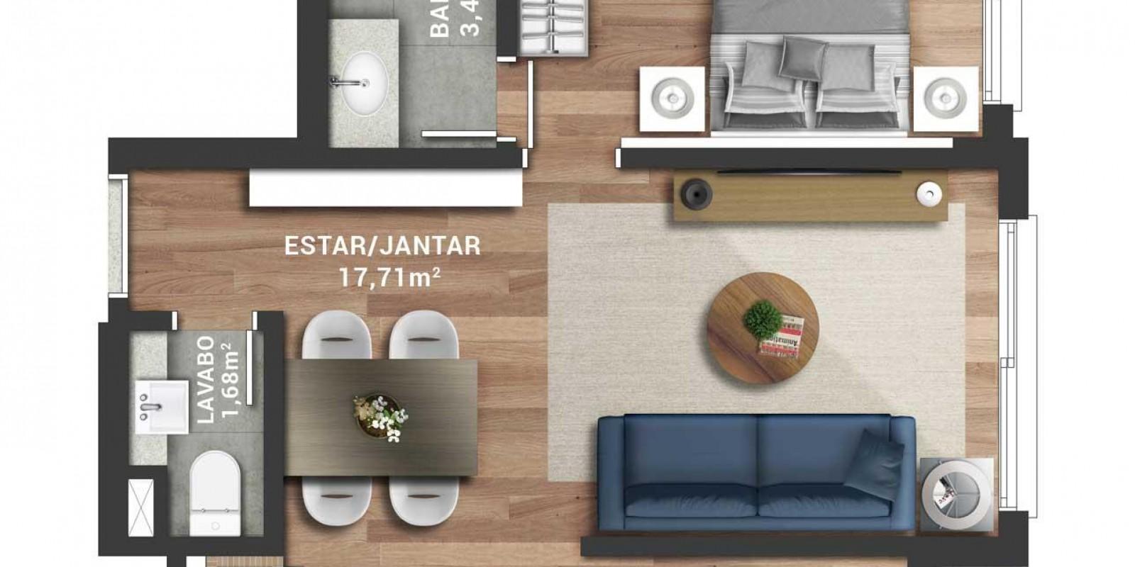 TPS Imóveis - Veja Foto 3 de 17 do Apartamento A Venda 1 dormitório Porto Alegre