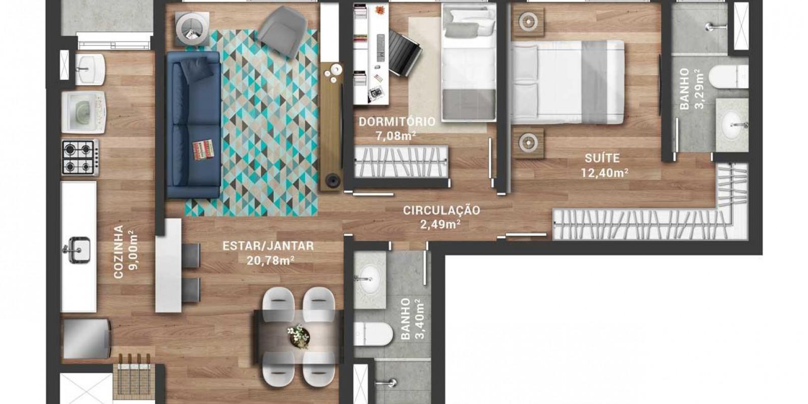 TPS Imóveis - Veja Foto 4 de 17 do Apartamento A Venda 1 dormitório Porto Alegre