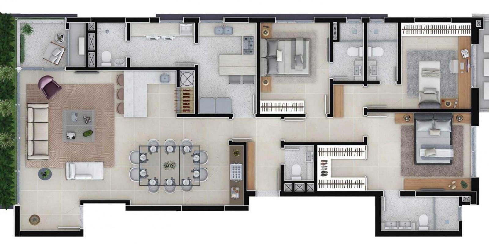 TPS Imóveis - Veja Foto 12 de 12 do Apartamento A Venda 3 dormitórios Porto Alegre