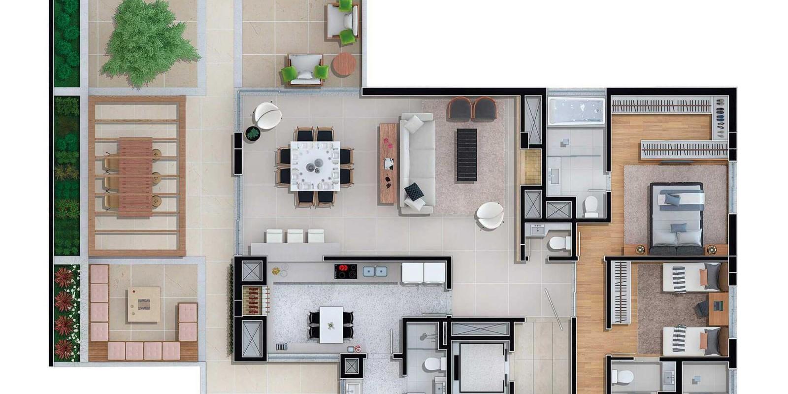 TPS Imóveis - Veja Foto 11 de 13 do Apartamento A Venda 3 dormitórios Porto Alegre