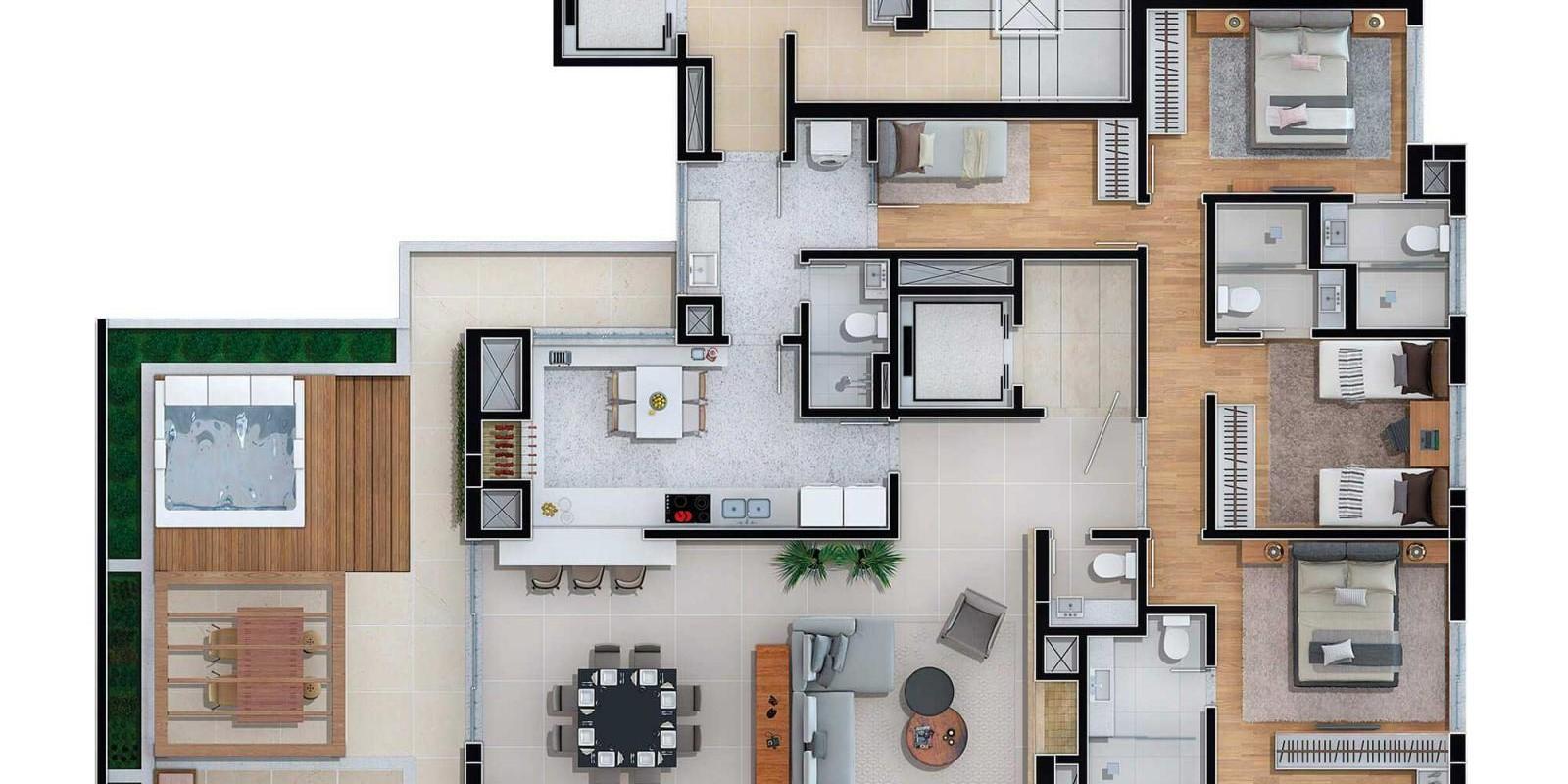 TPS Imóveis - Veja Foto 12 de 13 do Apartamento A Venda 3 dormitórios Porto Alegre