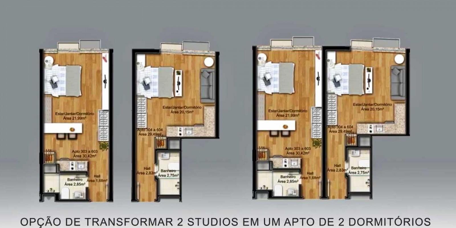 TPS Imóveis - Veja Foto 2 de 20 do Apartamento Studio Perto PUC-RS