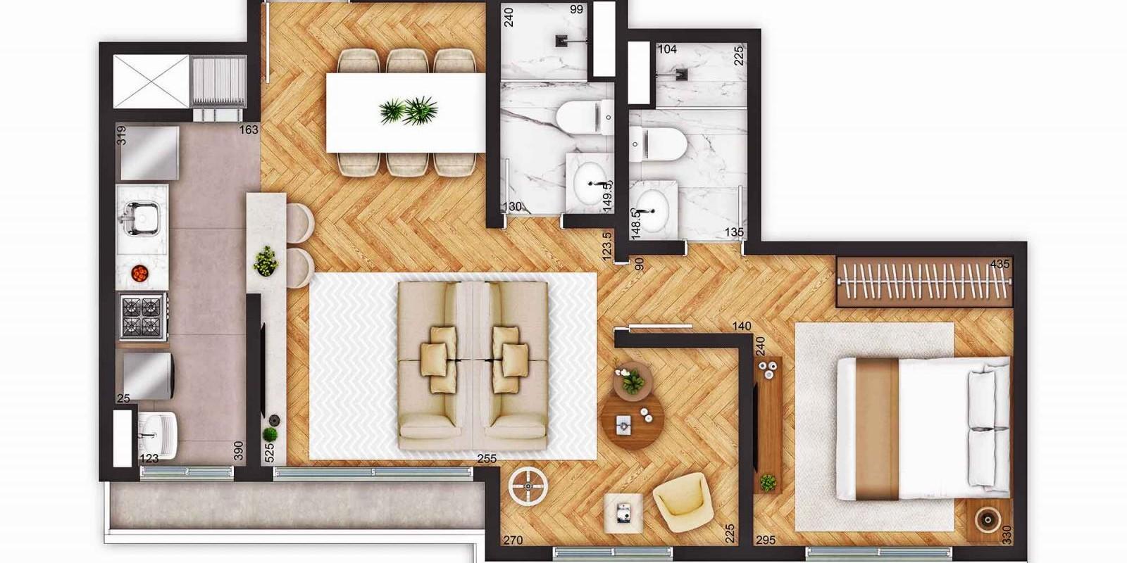 TPS Imóveis - Veja Foto 11 de 18 do Apartamentos a Venda ao Lado do Bourbon Wallig