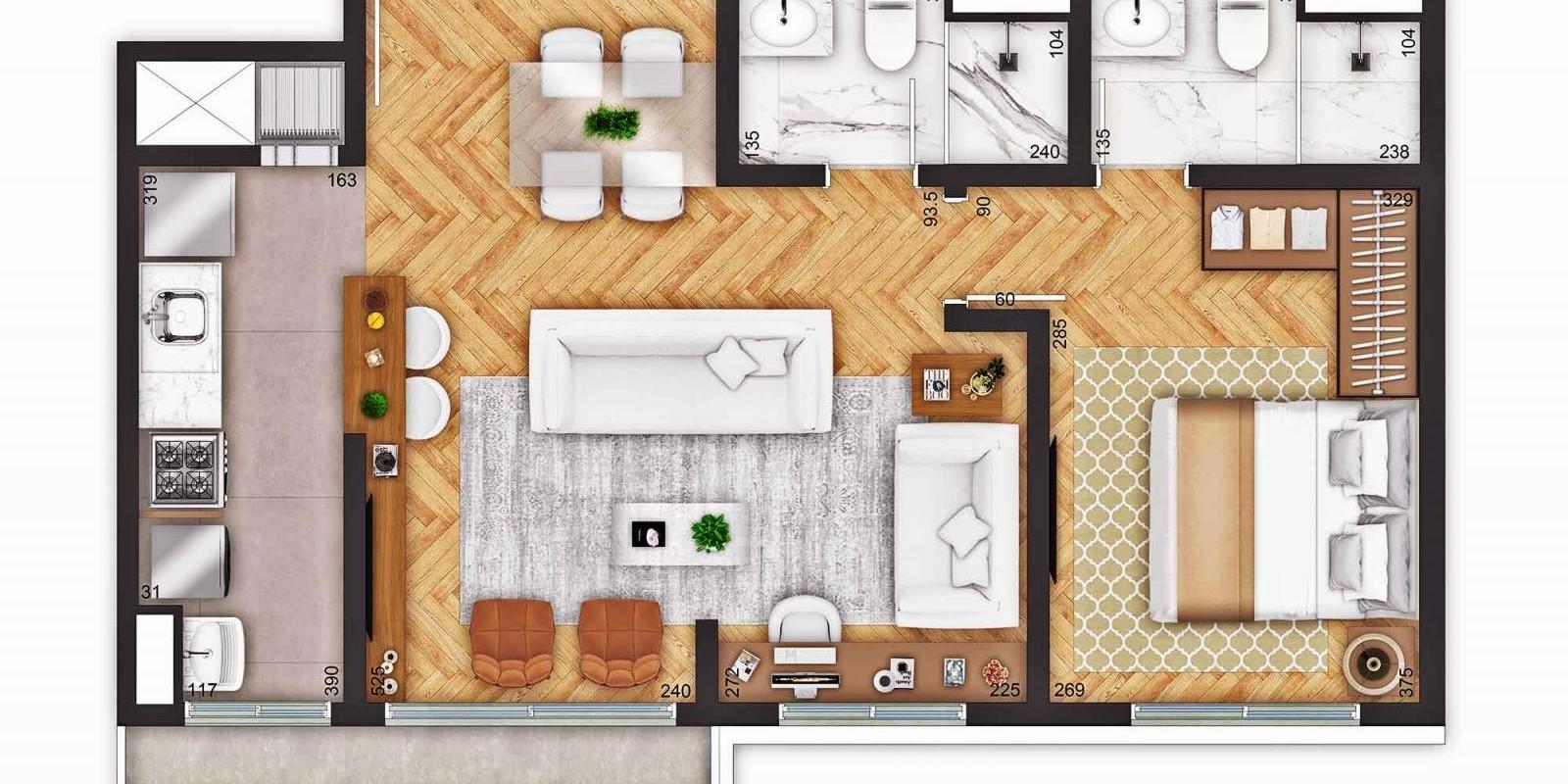 TPS Imóveis - Veja Foto 12 de 18 do Apartamentos a Venda ao Lado do Bourbon Wallig