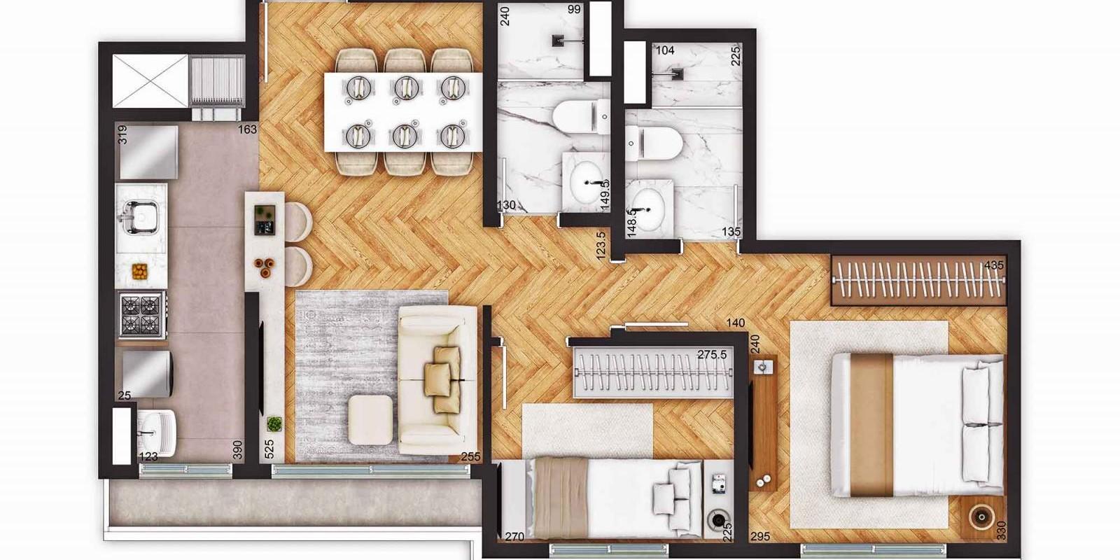 TPS Imóveis - Veja Foto 13 de 18 do Apartamentos a Venda ao Lado do Bourbon Wallig
