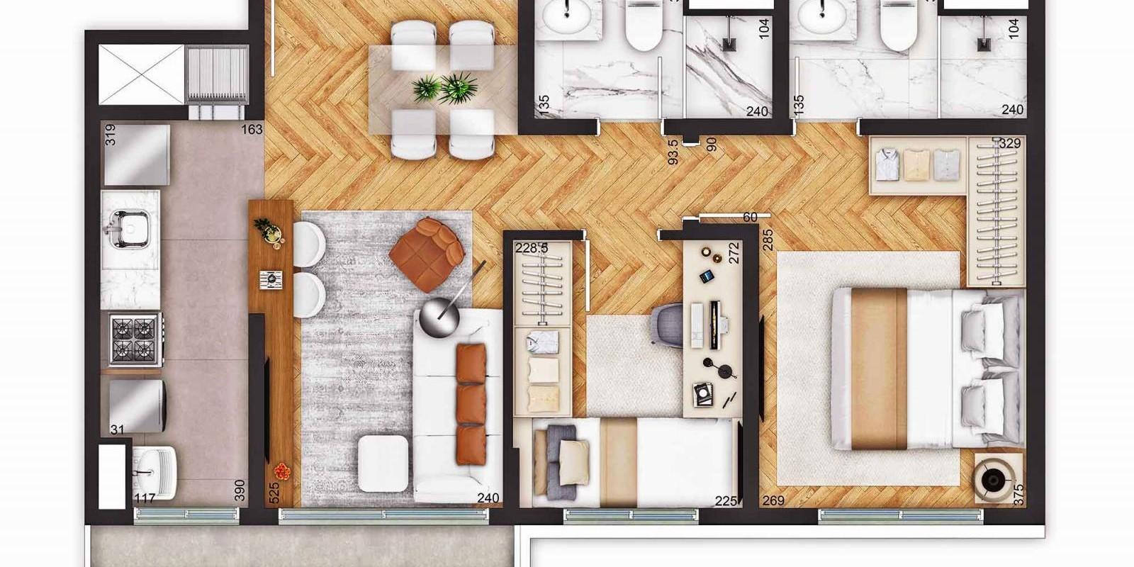 TPS Imóveis - Veja Foto 14 de 18 do Apartamentos a Venda ao Lado do Bourbon Wallig