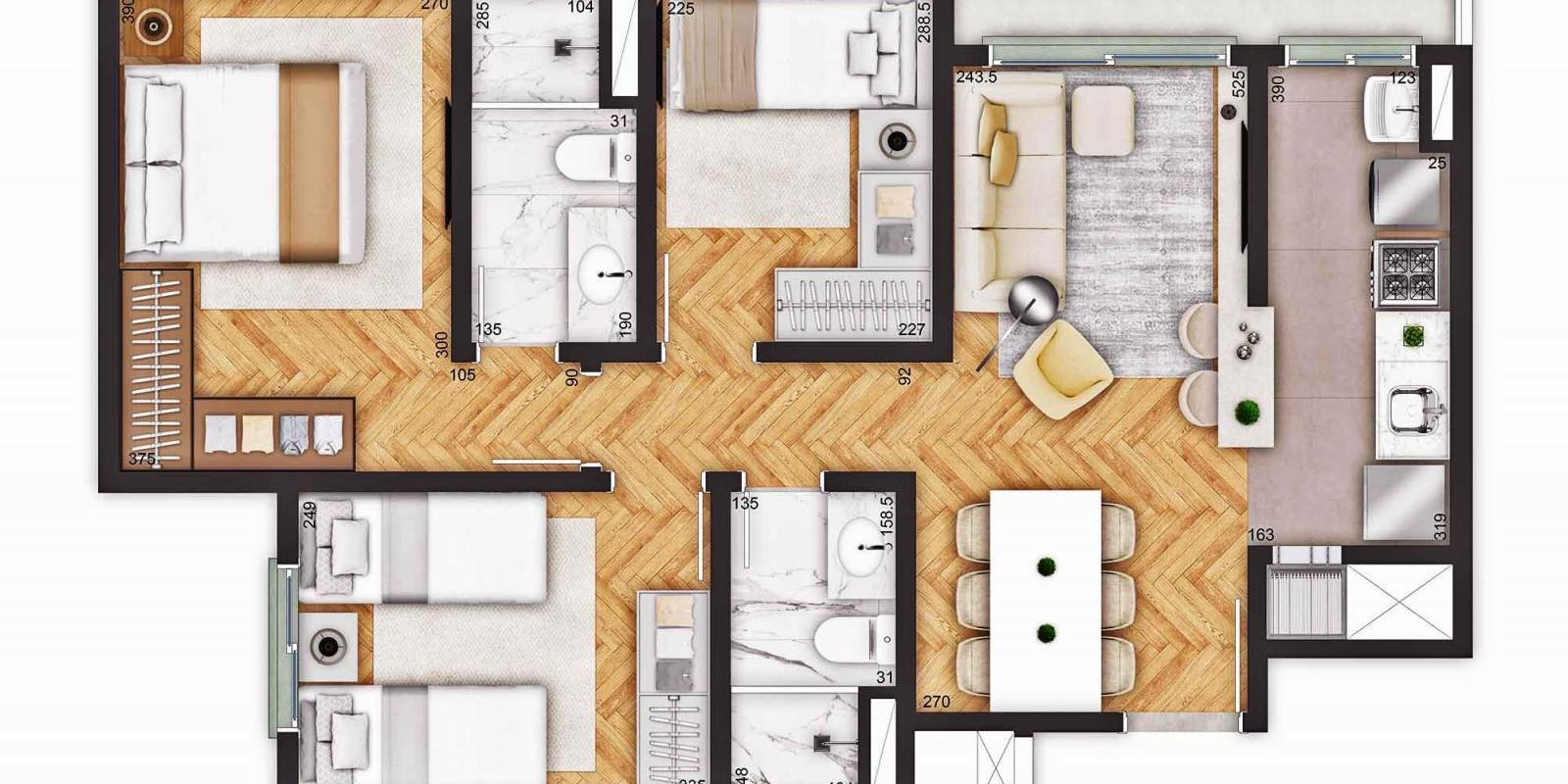 TPS Imóveis - Veja Foto 15 de 18 do Apartamentos a Venda ao Lado do Bourbon Wallig