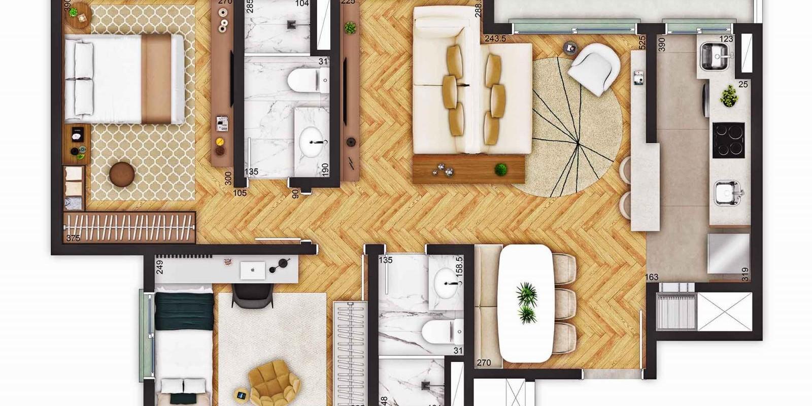 TPS Imóveis - Veja Foto 17 de 18 do Apartamentos a Venda ao Lado do Bourbon Wallig