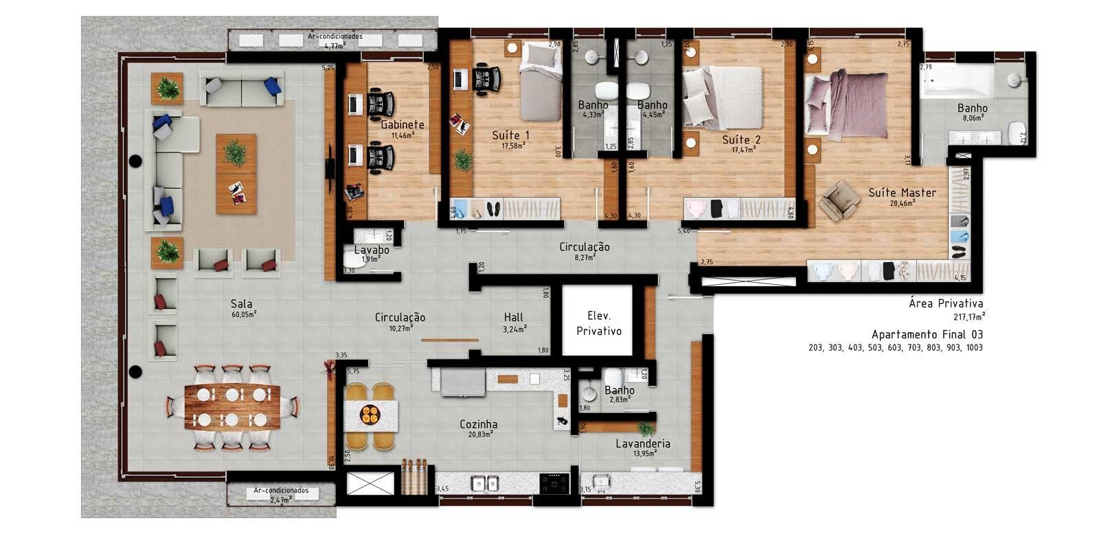 TPS Imóveis - Veja Foto 18 de 18 do Apartamento 3 Suítes em Porto Alegre
