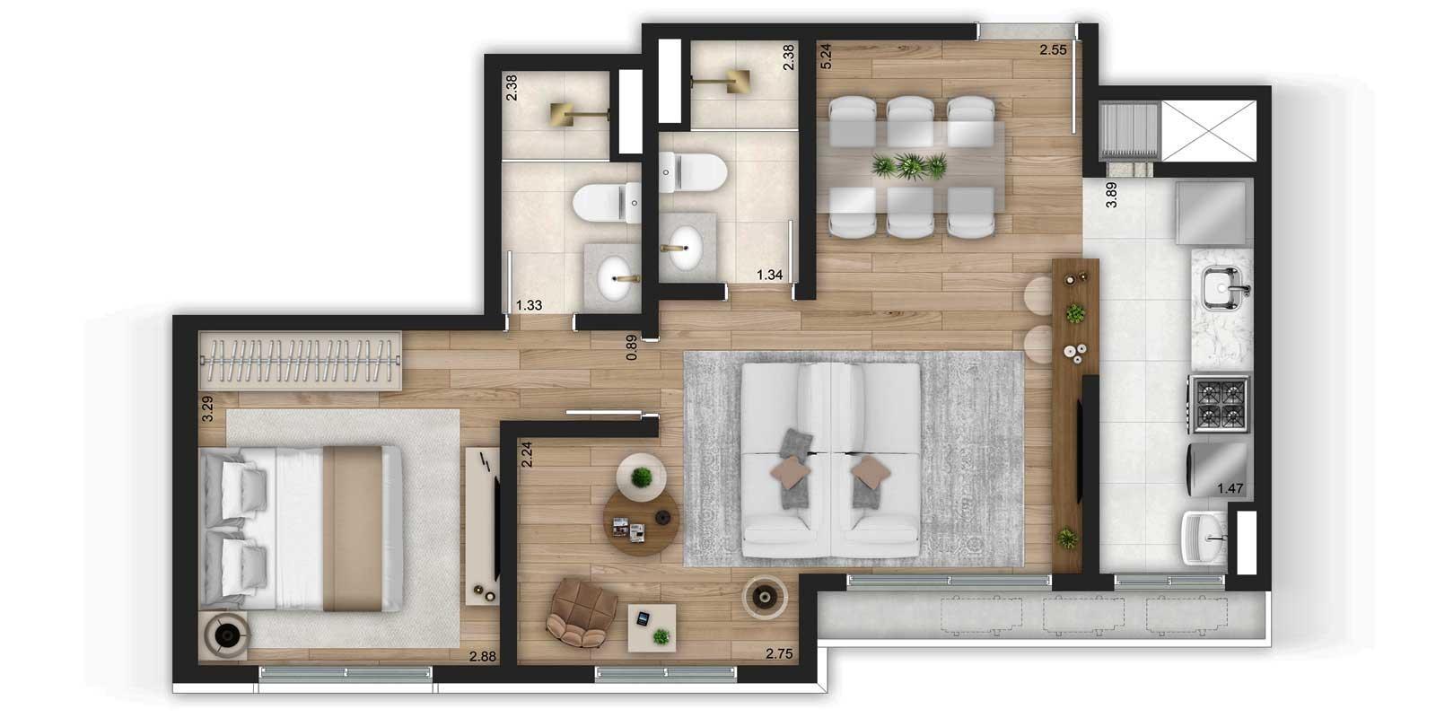 TPS Imóveis - Veja Foto 31 de 32 do Apartamentos de 2 e 3 dormitórios com suíte