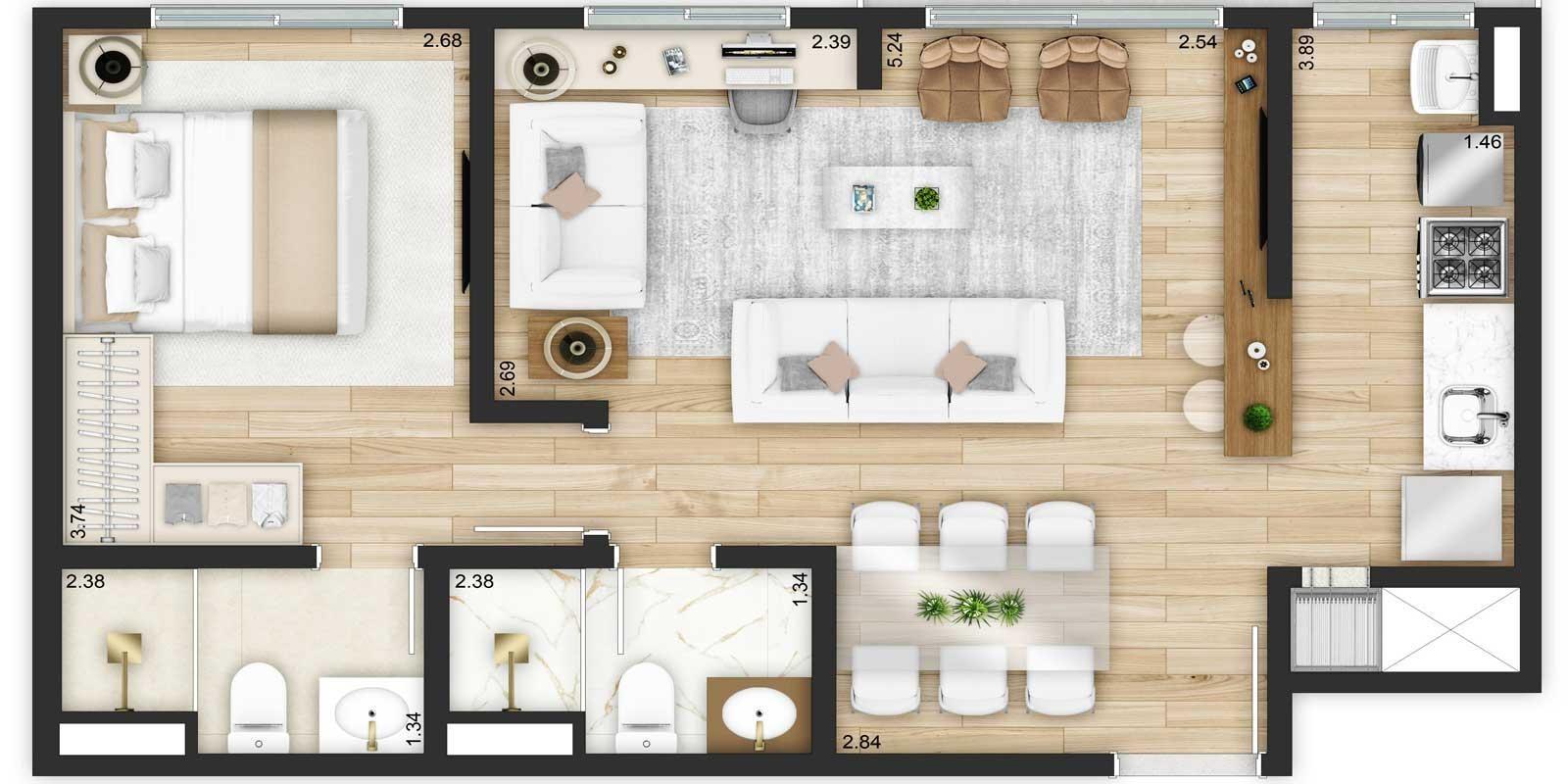 TPS Imóveis - Veja Foto 26 de 32 do Apartamentos de 2 e 3 dormitórios com suíte