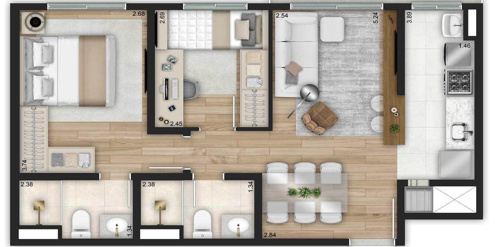 TPS Imóveis - Veja Foto 28 de 32 do Apartamentos de 2 e 3 dormitórios com suíte