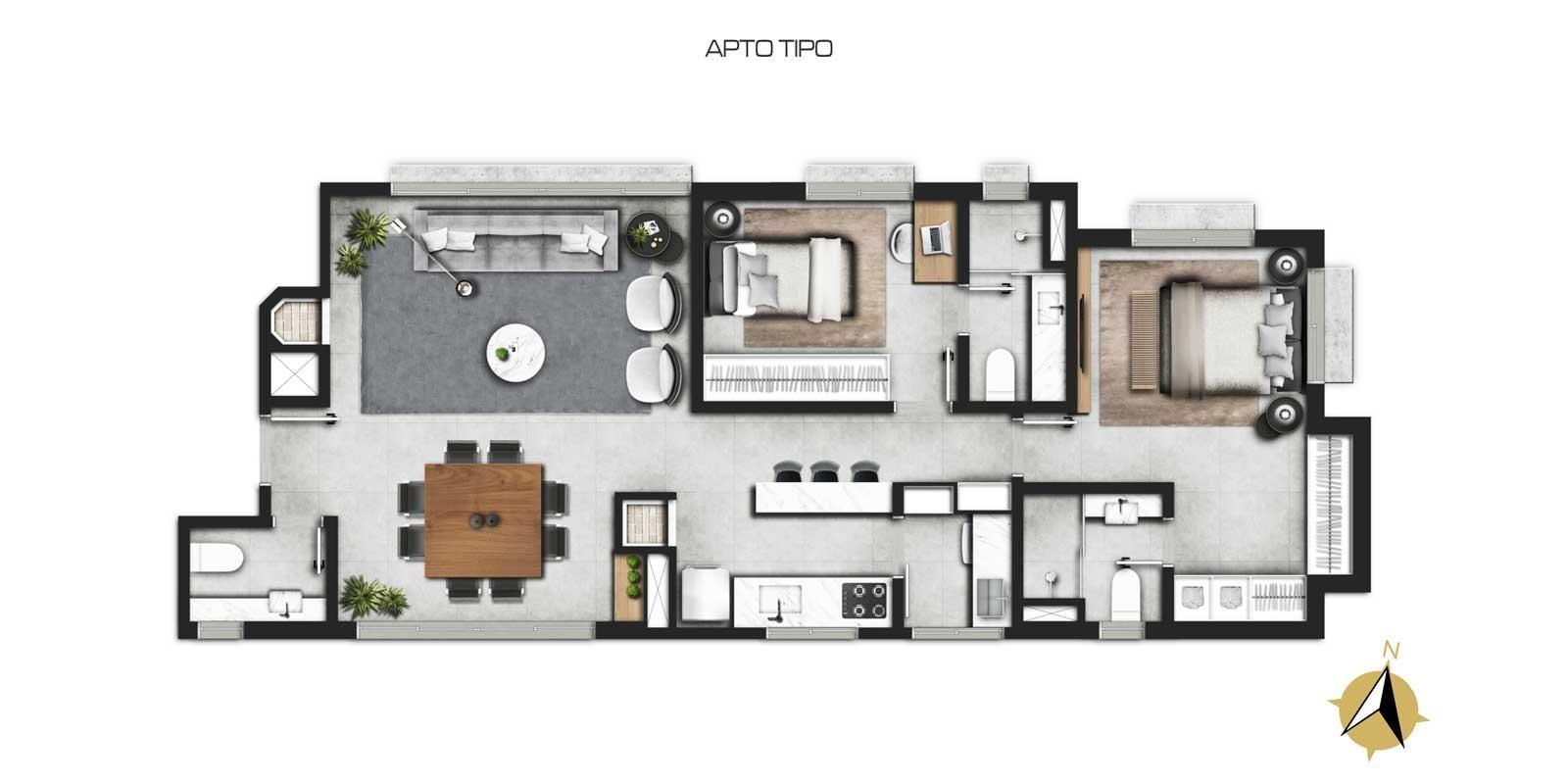 TPS Imóveis - Veja Foto 8 de 11 do Apartamento 2 Suítes Petrópolis, Porto Alegre