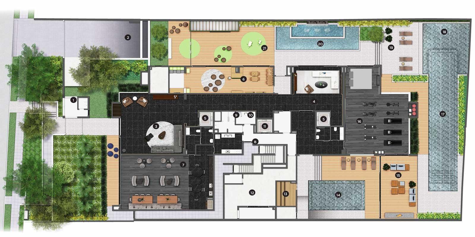 TPS Imóveis - Veja Foto 6 de 20 do Apartamento com 3 dormitórios no Bairro Bela Vista, Porto Alegre