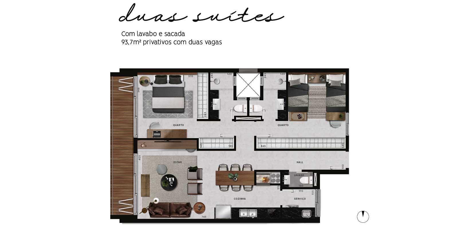 TPS Imóveis - Veja Foto 15 de 20 do Apartamentos com 1 ou 2 suítes com piscina na cobertura