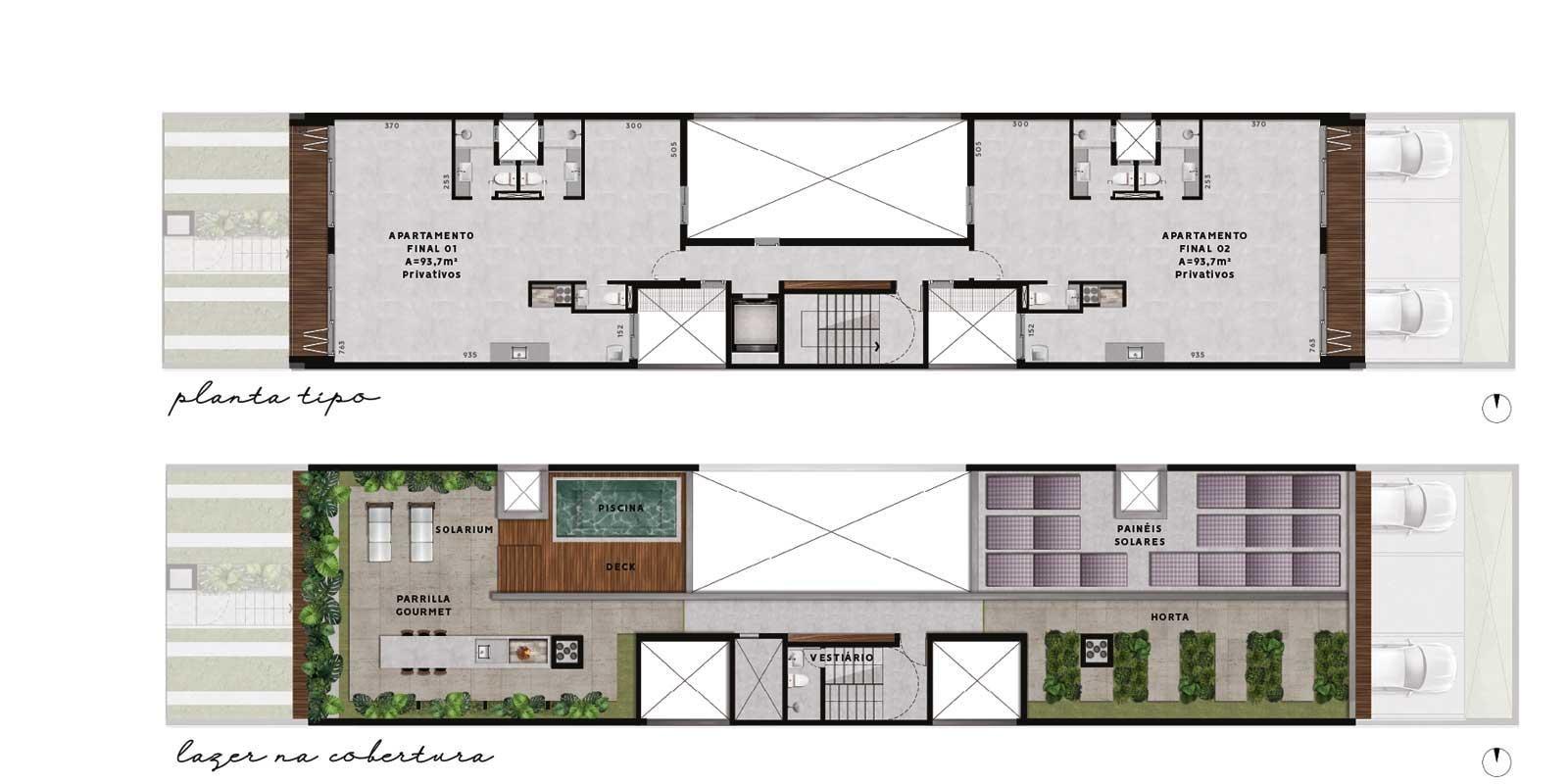 TPS Imóveis - Veja Foto 16 de 20 do Apartamentos com 1 ou 2 suítes com piscina na cobertura