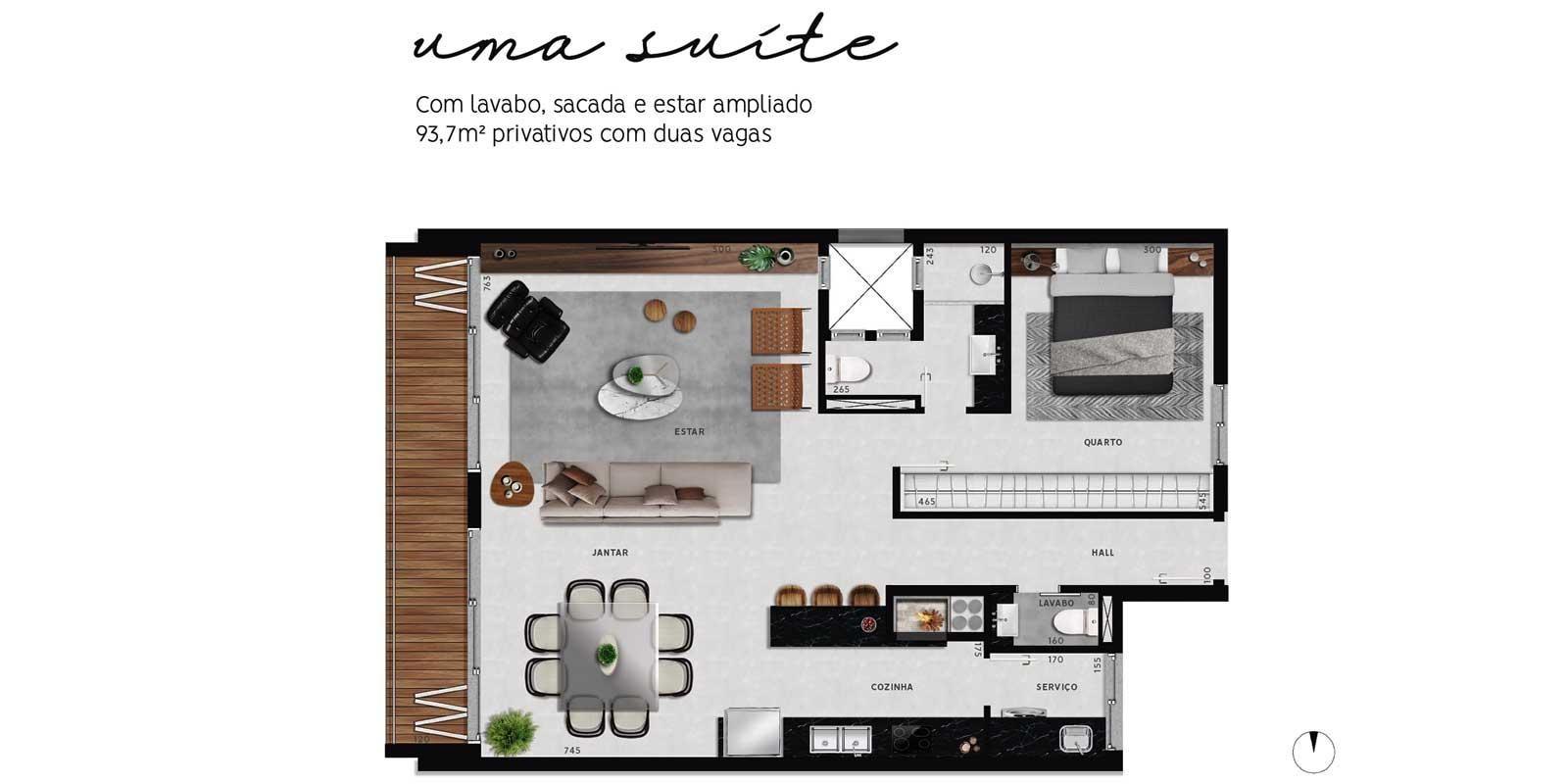 TPS Imóveis - Veja Foto 18 de 20 do Apartamentos com 1 ou 2 suítes com piscina na cobertura