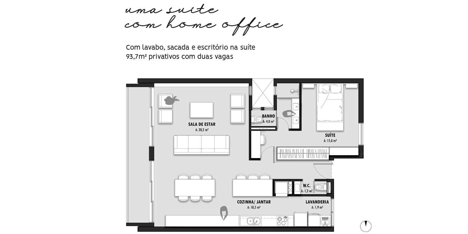 TPS Imóveis - Veja Foto 19 de 20 do Apartamentos com 1 ou 2 suítes com piscina na cobertura