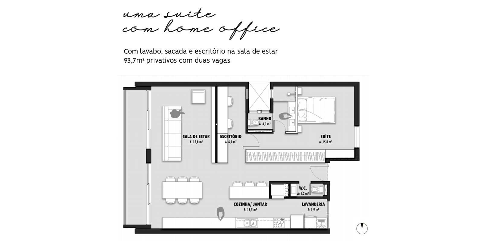 TPS Imóveis - Veja Foto 20 de 20 do Apartamentos com 1 ou 2 suítes com piscina na cobertura